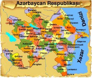 azerbaycan map